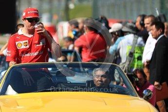 World © Octane Photographic Ltd. Formula 1 - Japanese Grand Prix - Sunday - Drivers' Parade. Kimi Raikkonen - Scuderia Ferrari SF70H. Suzuka Circuit, Suzuka, Japan. Sunday 8th October 2017. Digital Ref:1979LB1D0152