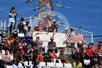World © Octane Photographic Ltd. Formula 1 - Japanese Grand Prix - Sunday - Grid - Fans in the grandstand. Suzuka Circuit, Suzuka, Japan. Sunday 8th October 2017. Digital Ref:1979LB1D0201