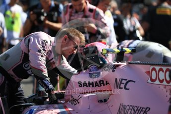 World © Octane Photographic Ltd. Formula 1 - Japanese Grand Prix - Sunday - Grid. Esteban Ocon - Sahara Force India VJM10. Suzuka Circuit, Suzuka, Japan. Sunday 8th October 2017. Digital Ref:1979LB1D0248