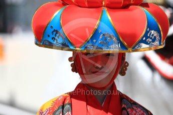 World © Octane Photographic Ltd. Formula 1 - Japanese Grand Prix - Sunday - Drivers' Parade. Traditional celebrations. Suzuka Circuit, Suzuka, Japan. Sunday 8th October 2017. Digital Ref:1979LB1D9923