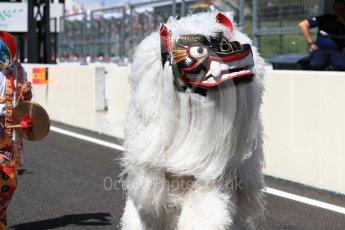 World © Octane Photographic Ltd. Formula 1 - Japanese Grand Prix - Sunday - Drivers' Parade. Traditional celebrations. Suzuka Circuit, Suzuka, Japan. Sunday 8th October 2017. Digital Ref:1979LB1D9932