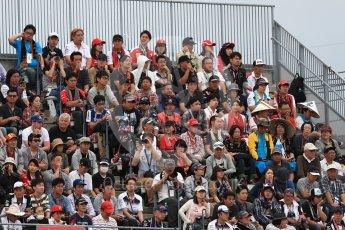 World © Octane Photographic Ltd. Formula 1 - Japanese Grand Prix - Saturday - Qualifying. Fans in the grandstand. Suzuka Circuit, Suzuka, Japan. Saturday 7th October 2017. Digital Ref:1977LB1D9481
