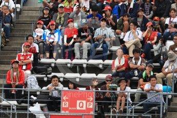 World © Octane Photographic Ltd. Formula 1 - Japanese Grand Prix - Saturday - Qualifying. Fans in the grandstand. Suzuka Circuit, Suzuka, Japan. Saturday 7th October 2017. Digital Ref:1977LB1D9562