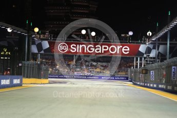 World © Octane Photographic Ltd. Formula 1 - Singapore Grand Prix - Paddock. Starting grid. Marina Bay Street Circuit, Singapore. Sunday 17th September 2017. Digital Ref: