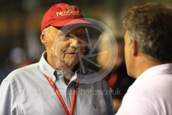 World © Octane Photographic Ltd. Formula 1 - Singapore Grand Prix - Paddock. Niki Lauda - Non-Executive Chairman of Mercedes-Benz Motorsport. Marina Bay Street Circuit, Singapore. Sunday 17th September 2017. Digital Ref: