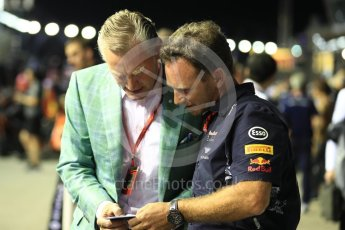 World © Octane Photographic Ltd. Formula 1 - Singapore Grand Prix - Paddock. Christian Horner - Team Principal of Red Bull Racing. Marina Bay Street Circuit, Singapore. Sunday 17th September 2017. Digital Ref: