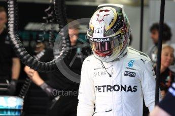 World © Octane Photographic Ltd. Formula 1 - Singapore Grand Prix - Practice 3. Lewis Hamilton - Mercedes AMG Petronas F1 W08 EQ Energy+. Marina Bay Street Circuit, Singapore. Saturday 16th September 2017. Digital Ref:1962LB1D1402