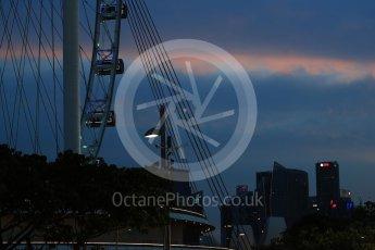 World © Octane Photographic Ltd. Formula 1 - Singapore Grand Prix - Practice 3. Singapore flyer. Marina Bay Street Circuit, Singapore. Saturday 16th September 2017. Digital Ref:1962LB1D1898