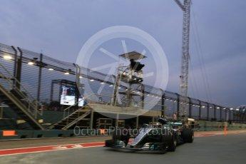World © Octane Photographic Ltd. Formula 1 - Singapore Grand Prix - Practice 3. Valtteri Bottas - Mercedes AMG Petronas F1 W08 EQ Energy+. Marina Bay Street Circuit, Singapore. Saturday 16th September 2017. Digital Ref:1962LB2D1818