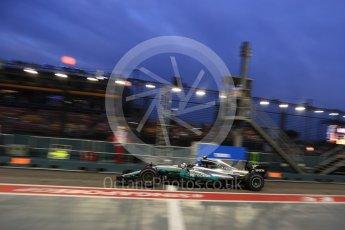 World © Octane Photographic Ltd. Formula 1 - Singapore Grand Prix - Practice 3. Valtteri Bottas - Mercedes AMG Petronas F1 W08 EQ Energy+. Marina Bay Street Circuit, Singapore. Saturday 16th September 2017. Digital Ref:1962LB2D1911