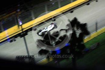 World © Octane Photographic Ltd. Formula 1 - Singapore Grand Prix - Qualifying. Lance Stroll - Williams Martini Racing FW40. Marina Bay Street Circuit, Singapore. Saturday 16th September 2017. Digital Ref: