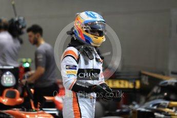 World © Octane Photographic Ltd. Formula 1 - Singapore Grand Prix - Qualifying. Fernando Alonso - McLaren Honda MCL32. Marina Bay Street Circuit, Singapore. Saturday 16th September 2017. Digital Ref:1963LB1D2614