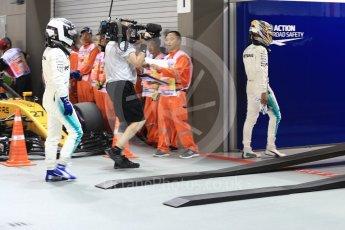 World © Octane Photographic Ltd. Formula 1 - Singapore Grand Prix - Qualifying. Lewis Hamilton and Valtteri Bottas - Mercedes AMG Petronas F1 W08 EQ Energy+. Marina Bay Street Circuit, Singapore. Saturday 16th September 2017. Digital Ref:1963LB1D2638