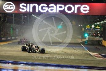 World © Octane Photographic Ltd. Formula 1 - Singapore Grand Prix - Race. Kevin Magnussen - Haas F1 Team VF-17. Marina Bay Street Circuit, Singapore. Sunday 17th September 2017. Digital Ref: