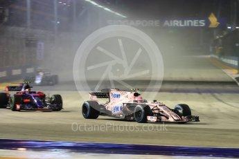 World © Octane Photographic Ltd. Formula 1 - Singapore Grand Prix - Race. Esteban Ocon - Sahara Force India VJM10. Marina Bay Street Circuit, Singapore. Sunday 17th September 2017. Digital Ref: