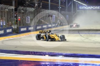 World © Octane Photographic Ltd. Formula 1 - Singapore Grand Prix - Race. Nico Hulkenberg - Renault Sport F1 Team R.S.17. Marina Bay Street Circuit, Singapore. Sunday 17th September 2017. Digital Ref: