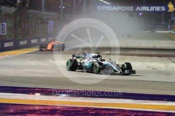World © Octane Photographic Ltd. Formula 1 - Singapore Grand Prix - Race. Valtteri Bottas - Mercedes AMG Petronas F1 W08 EQ Energy+. and Marina Bay Street Circuit, Singapore. Sunday 17th September 2017. Digital Ref: