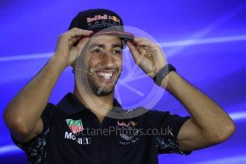 World © Octane Photographic Ltd. Formula 1 - Singapore Grand Prix – Thursday Driver Press Conference – Part 2. Daniel Ricciardo - Red Bull Racing. Marina Bay Street Circuit, Singapore. Thursday 14th September 2017. Digital Ref: 1956LB1D7657