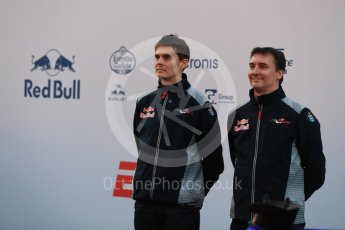 World © Octane Photographic Ltd. Scuderia Toro Rosso STR12 launch, Circuit de Barcelona-Catalunya. Sunday 26th February 2017. Digital Ref :1777LB1D8029