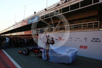 World © Octane Photographic Ltd. Scuderia Toro Rosso STR12 launch, Circuit de Barcelona-Catalunya. Sunday 26th February 2017. Digital Ref :1777LB5D7435