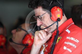 World © Octane Photographic Ltd. Formula 1 – Italian GP -Practice 3. Mattia Binotto – Chief Technical Officer - Scuderia Ferrari. Autodromo Nazionale di Monza, Monza, Italy. Saturday 1st September 2018.