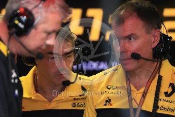 World © Octane Photographic Ltd. Formula 1 - Italian GP - Practice 3. Nick Chester – Chassis Technical Director at Renault Sport Formula 1 Team. Autodromo Nazionale di Monza, Monza, Italy. Saturday 1st September 2018.