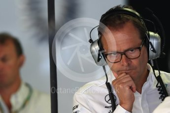 World © Octane Photographic Ltd. Formula 1 – Italian GP -Practice 3. Aldo Costa - Engineering Director of Mercedes - AMG Petronas Motorsport. Autodromo Nazionale di Monza, Monza, Italy. Saturday 1st September 2018.