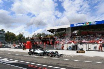 World © Octane Photographic Ltd. Formula 1 – Italian GP -Practice 3. Mercedes AMG Petronas Motorsport AMG F1 W09 EQ Power+ - Valtteri Bottas. Autodromo Nazionale di Monza, Monza, Italy. Saturday 1st September 2018.