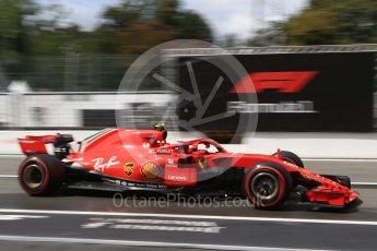World © Octane Photographic Ltd. Formula 1 – Italian GP -Practice 3. Scuderia Ferrari SF71-H – Kimi Raikkonen. Autodromo Nazionale di Monza, Monza, Italy. Saturday 1st September 2018.