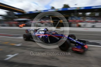 World © Octane Photographic Ltd. Formula 1 – Italian GP -Practice 3. Scuderia Toro Rosso STR13 – Brendon Hartley. Autodromo Nazionale di Monza, Monza, Italy. Saturday 1st September 2018.