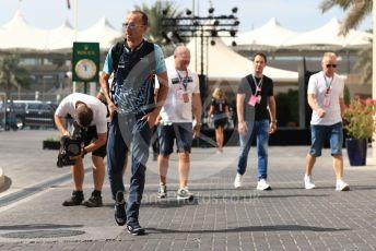World © Octane Photographic Ltd. Formula 1 –  Abu Dhabi GP - Paddock. Williams Martini Racing FW41 – Robert Kubica. Yas Marina Circuit, Abu Dhabi. Saturday 24th November 2018.