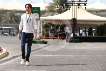 World © Octane Photographic Ltd. Formula 1 - Abu Dhabi GP - Practice 3. Esteban Gutierrez  - Simulator Driver for Mercedes. Yas Marina Circuit, Abu Dhabi. Saturday 24th November 2018.