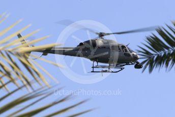 World © Octane Photographic Ltd. Formula 1 – Abu Dhabi GP - Practice 1. TV helicopter. Yas Marina Circuit, Abu Dhabi. Friday 23rd November 2018.