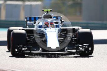 World © Octane Photographic Ltd. Formula 1 – Abu Dhabi GP - Practice 1. Williams Martini Racing FW41 – Robert Kubica. Yas Marina Circuit, Abu Dhabi. Friday 23rd November 2018.