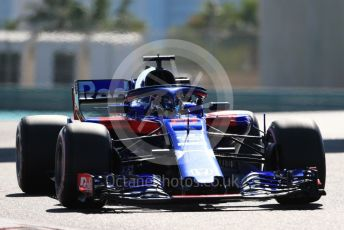 World © Octane Photographic Ltd. Formula 1 –  Abu Dhabi GP - Practice 1. Scuderia Toro Rosso STR13 – Brendon Hartley. Yas Marina Circuit, Abu Dhabi. Friday 23rd November 2018.