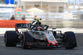 World © Octane Photographic Ltd. Formula 1 –  Abu Dhabi GP - Practice 1. Haas F1 Team VF-18 – Kevin Magnussen. Yas Marina Circuit, Abu Dhabi. Friday 23rd November 2018.