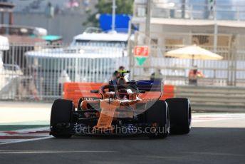 World © Octane Photographic Ltd. Formula 1 –  Abu Dhabi GP - Practice 1. McLaren MCL33 – Stoffel Vandoorne. Yas Marina Circuit, Abu Dhabi. Friday 23rd November 2018.
