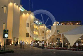 World © Octane Photographic Ltd. Formula 1 –  Abu Dhabi GP - Practice 2. Night time paddock. Yas Marina Circuit, Abu Dhabi. Friday 23rd November 2018.