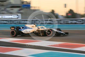 World © Octane Photographic Ltd. Formula 1 –  Abu Dhabi GP - Practice 2. Williams Martini Racing FW41 – Lance Stroll. Yas Marina Circuit, Abu Dhabi. Friday 23rd November 2018.