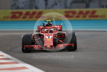 World © Octane Photographic Ltd. Formula 1 –  Abu Dhabi GP - Practice 2. Scuderia Ferrari SF71-H – Kimi Raikkonen. Yas Marina Circuit, Abu Dhabi. Friday 23rd November 2018.