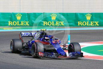 World © Octane Photographic Ltd. Formula 1 – Abu Dhabi GP - Practice 3. Scuderia Toro Rosso STR13 – Pierre Gasly. Yas Marina Circuit, Abu Dhabi. Saturday 24th November 2018.