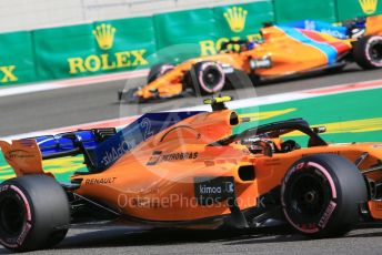 World © Octane Photographic Ltd. Formula 1 –  Abu Dhabi GP - Practice 3. McLaren MCL33 – Stoffel Vandoorne and Fernando Alonso. Yas Marina Circuit, Abu Dhabi. Saturday 24th November 2018.
