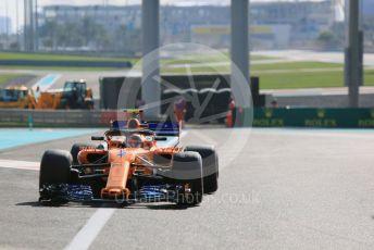 World © Octane Photographic Ltd. Formula 1 – Abu Dhabi GP - Practice 3. McLaren MCL33 – Stoffel Vandoorne. Yas Marina Circuit, Abu Dhabi. Saturday 24th November 2018.