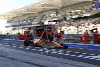 World © Octane Photographic Ltd. Formula 1 – Abu Dhabi GP - Practice 3. McLaren MCL33 – Fernando Alonso. Yas Marina Circuit, Abu Dhabi. Saturday 24th November 2018.
