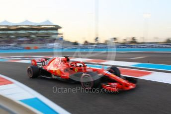 World © Octane Photographic Ltd. Formula 1 –  Abu Dhabi GP - Qualifying. Scuderia Ferrari SF71-H – Sebastian Vettel. Yas Marina Circuit, Abu Dhabi. Saturday 24th November 2018.