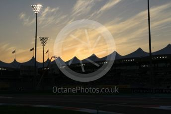 World © Octane Photographic Ltd. Formula 1 – Abu Dhabi GP - Qualifying. Pit Entry at Twilight. Yas Marina Circuit, Abu Dhabi. Saturday 24th November 2018.