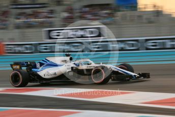 World © Octane Photographic Ltd. Formula 1 – Abu Dhabi GP - Qualifying. Williams Martini Racing FW41 – Lance Stroll. Yas Marina Circuit, Abu Dhabi. Saturday 24th November 2018.