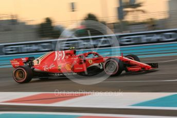 World © Octane Photographic Ltd. Formula 1 – Abu Dhabi GP - Qualifying. Scuderia Ferrari SF71-H – Kimi Raikkonen. Yas Marina Circuit, Abu Dhabi. Saturday 24th November 2018.
