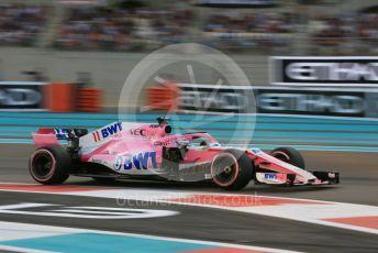 World © Octane Photographic Ltd. Formula 1 –  Abu Dhabi GP - Qualifying. Racing Point Force India VJM11 - Sergio Perez. Yas Marina Circuit, Abu Dhabi. Saturday 24th November 2018.