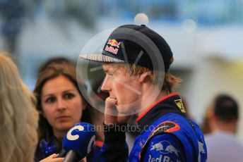 World © Octane Photographic Ltd. Formula 1 – Abu Dhabi GP - Qualifying. Scuderia Toro Rosso STR13 – Brendon Hartley. Yas Marina Circuit, Abu Dhabi. Saturday 24th November 2018.